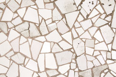 White mosaic tiles Stock Photography