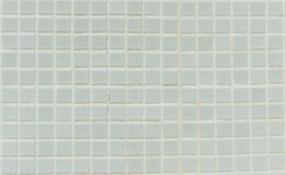 White Mosaic Tiles abstract background Royalty Free Stock Photos