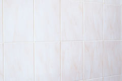 White mosaic tiles abstract background and texture. Horizontal frame Stock Photography