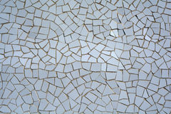 White mosaic tiles Royalty Free Stock Photos