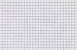 White mosaic tiles wall pattern background Royalty Free Stock Photography