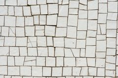White mosaics Stock Images