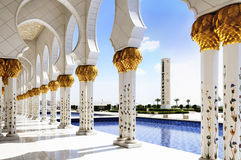 White Mosque in Abu Dhabi Stock Photography