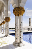 White Mosque in Abu Dhabi Royalty Free Stock Images