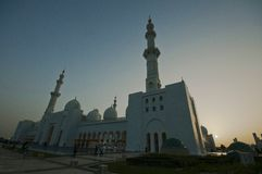 White Mosque in Abu Dhabi stock photo