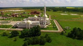 White mosque in Bolgar. City stock video footage