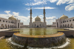 White mosque in the Bolgar, Tatarstan, Russia. White mosque in the Bulgar Bolghar, Bolgar , Tatarstan, Russia Royalty Free Stock Photos