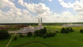 White mosque in Bolgar. City stock footage