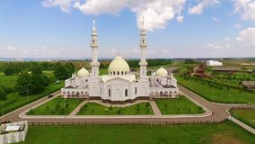 White mosque in Bolgar. City stock video
