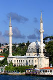 White Mosque of Bosporus. This Old Ottoman-era Mosque is located right by the Famous Bosporus of Istanbul,Turkey stock images