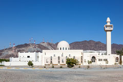 White mosque in the emirate of Fujairah Stock Image