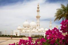White Mosque In Abu Dhabi. United Arab Emirates. Stock Image