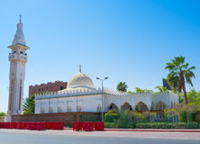 The white mosque Stock Images