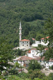 White Mosque In The Thrace Greece Royalty Free Stock Photo