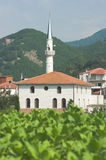 White Mosque In The Thrace Greece Royalty Free Stock Image