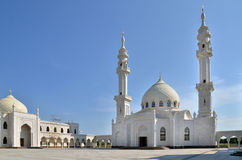 White Mosque Under Construction In Bolgar, Russia Royalty Free Stock Image