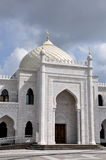 White mosque in the village of Bulgar. Royalty Free Stock Photos