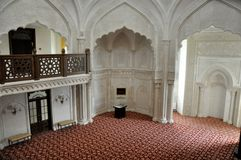White mosque in the village of Bulgar, Tatarstan, Russia. Royalty Free Stock Photography