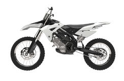 White motocross bike Royalty Free Stock Image