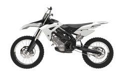 White motocross bike. Isolated on white background Royalty Free Stock Image