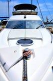 White motor yacht Stock Photos