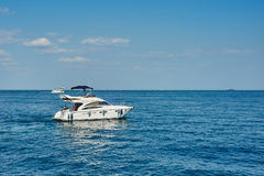 White motor yacht Stock Photography