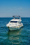 White motor yacht Royalty Free Stock Image