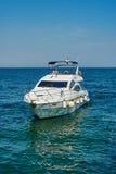 White motor yacht Royalty Free Stock Image