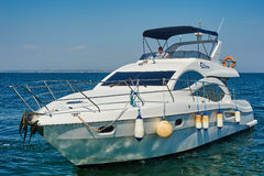 White motor yacht Stock Photos