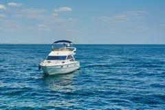 White motor yacht Stock Images