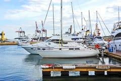 White motor yacht Royalty Free Stock Photo