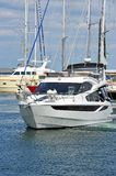 White motor yacht Stock Image