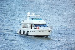 White motor yacht Stock Photography