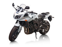 White motorcycle Stock Photos