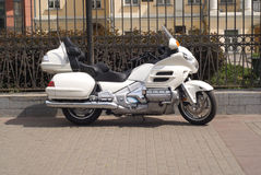 White motorcycle Stock Photography