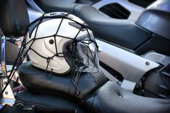 White motorcycle helmet Royalty Free Stock Images