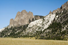 White Mountain. View of White Mountain in the Sunlight Basin in Wyoming Stock Image