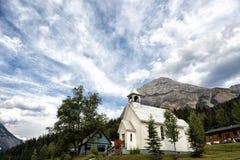 White mountain church Royalty Free Stock Photos