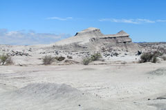 White mountain in desert Stock Photo