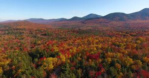 White mountain fall foliage, New Hampshire NH, USA.