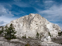 White mountain. Lonely white mountain species of izvestnyaki in Central Russia Royalty Free Stock Image