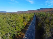 White Mountain in fall aerial view, New Hampshire, USA