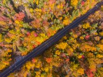 White Mountain National Forest aerial view, New Hampshire, USA