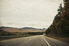 White Mountain, NH. Lonely road in White Mountain, NH, USA Royalty Free Stock Image