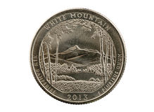 White Mountain Quarter Coin Royalty Free Stock Image