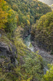 White Mountain River in the rocky gorge. Granite Canyon. Stock Image