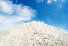 White mountain. Waste of chemical production. Royalty Free Stock Image