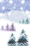 White Mountains of Christmas concept - Graphic painting texture Stock Images