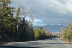 White mountains  country road Royalty Free Stock Photography