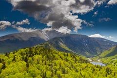 White Mountains, New Hampshire. Mount Liberty and Flume Mountain, White Mountains, New Hampshire stock image
